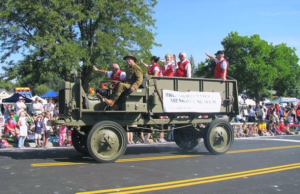 Photo of military vehicle in Broomfield Days parade