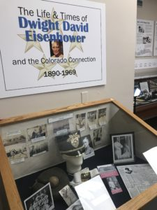 First display case introducing the Dwight David Eisenhower exhibit
