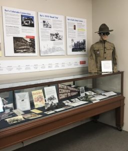 Main display case with artifacts from Dwight D. Eisenhower's early years of service
