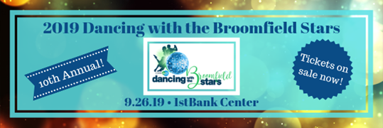 Graphic banner for Dancing With the Broomfield Stars