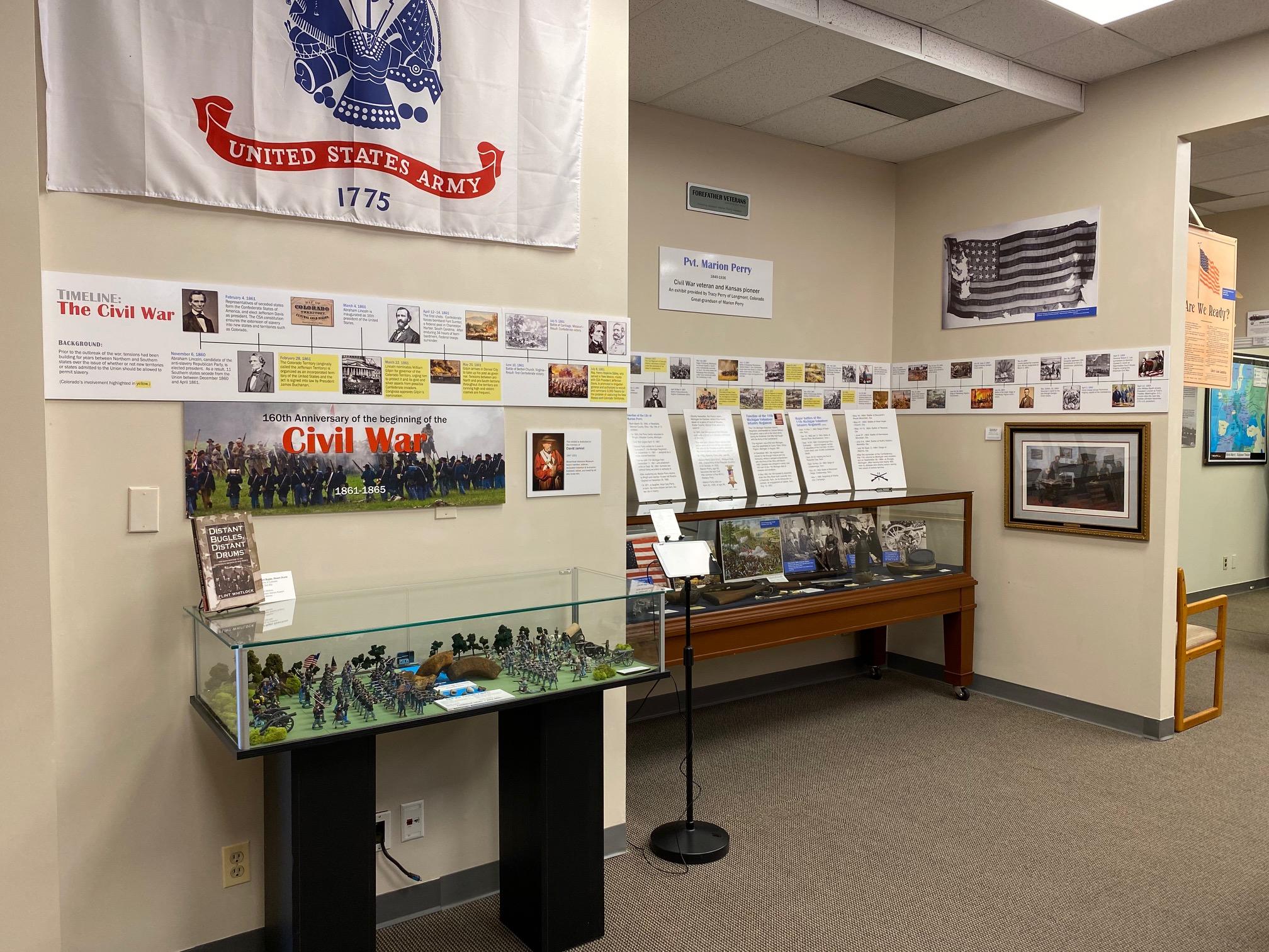 Display of Civil War special exhibit