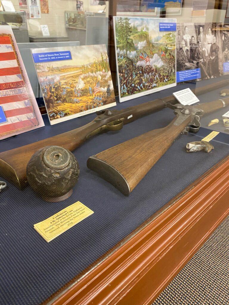 Photo of Civil War artifacts